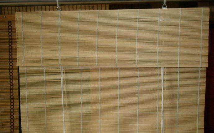Classy Roller Blinds : Attaching the Rope Bamboo Roller Blinds