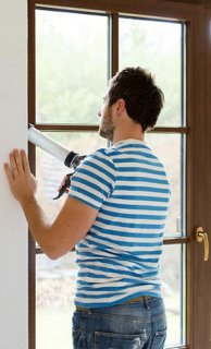 Sealing Window With Caulk