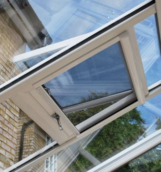 The Phantom Serene fly screen fitted to a velux window